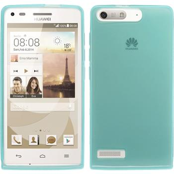 Silicone Case for Huawei Ascend P7 Mini transparent turquoise