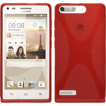 Silicone Case for Huawei Ascend P7 Mini X-Style red