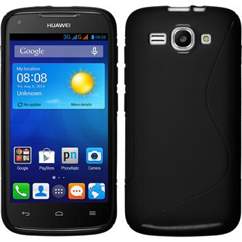 Silicone Case for Huawei Ascend Y520 S-Style black
