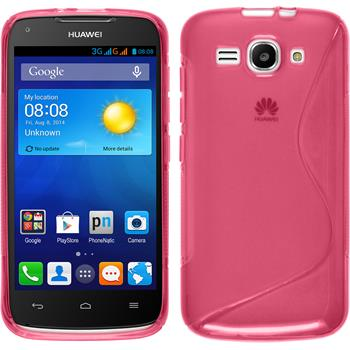 Silicone Case for Huawei Ascend Y520 S-Style hot pink