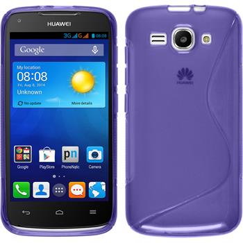Silicone Case for Huawei Ascend Y520 S-Style purple