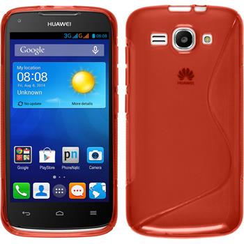 Silicone Case for Huawei Ascend Y520 S-Style red