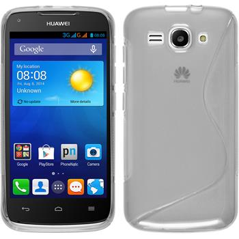 Silicone Case for Huawei Ascend Y520 S-Style transparent