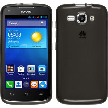 Silicone Case for Huawei Ascend Y520 transparent black