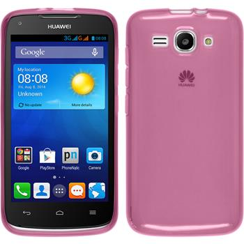 Silicone Case for Huawei Ascend Y520 transparent pink