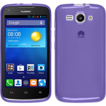 Silicone Case for Huawei Ascend Y520 transparent purple
