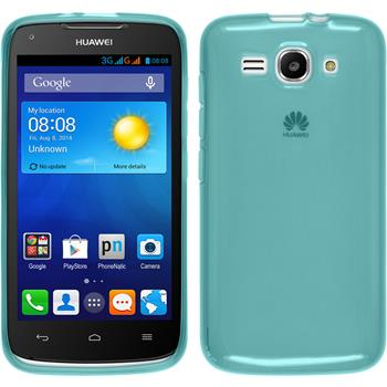 Silicone Case for Huawei Ascend Y520 transparent turquoise