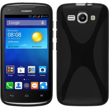 Silicone Case for Huawei Ascend Y520 X-Style black