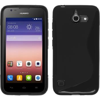 Silicone Case for Huawei Ascend Y550 S-Style black