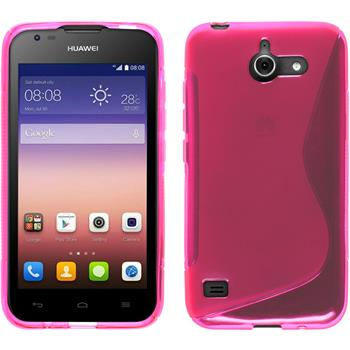 Silicone Case for Huawei Ascend Y550 S-Style hot pink