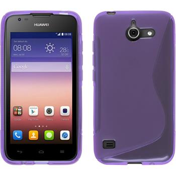 Silicone Case for Huawei Ascend Y550 S-Style purple