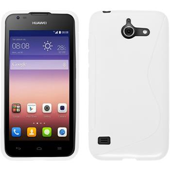 Silicone Case for Huawei Ascend Y550 S-Style white