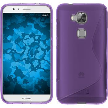 Silicone Case for Huawei G8 S-Style purple