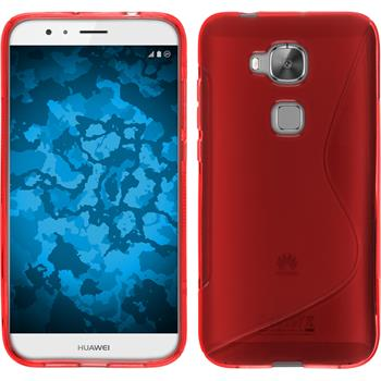Silicone Case for Huawei G8 S-Style red