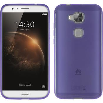 Silicone Case for Huawei G8 transparent purple