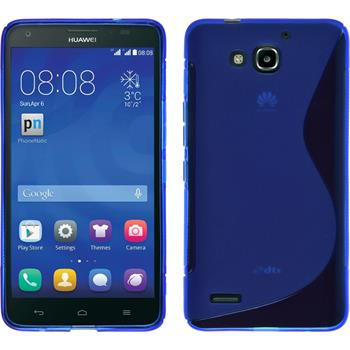 Silicone Case for Huawei Honor 3X G750 S-Style blue