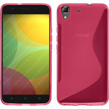 Silicone Case for Huawei Honor 4A S-Style hot pink