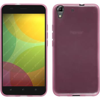 Silicone Case for Huawei Honor 4A transparent pink