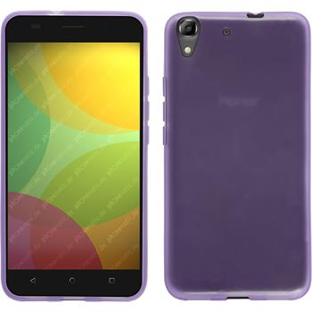 Silicone Case for Huawei Honor 4A transparent purple