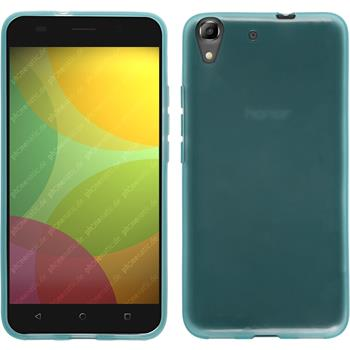 Silicone Case for Huawei Honor 4A transparent turquoise