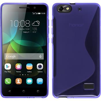 Silicone Case for Huawei Honor 4c S-Style purple