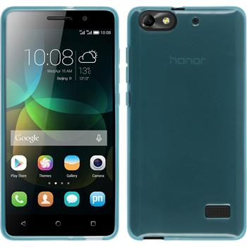 Silicone Case for Huawei Honor 4c transparent turquoise