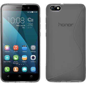 Silicone Case for Huawei Honor 4x S-Style gray