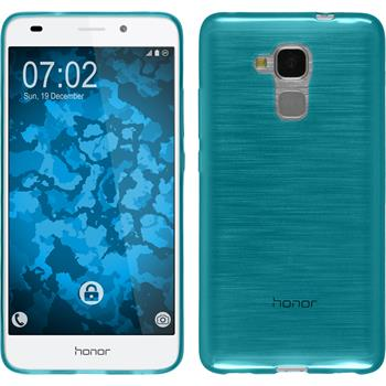 Silicone Case for Huawei Honor 5C transparent turquoise