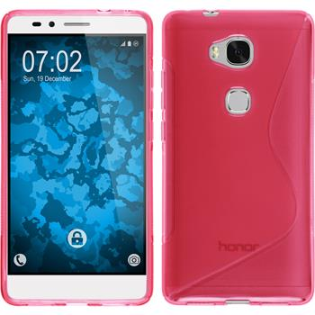 Silicone Case for Huawei Honor 5X S-Style hot pink