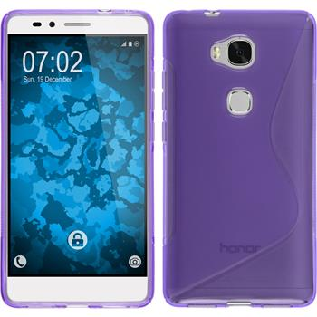 Silicone Case for Huawei Honor 5X S-Style purple