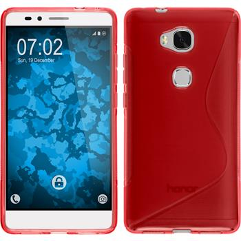 Silicone Case for Huawei Honor 5X S-Style red