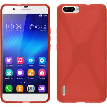 Silicone Case for Huawei Honor 6 Plus X-Style red