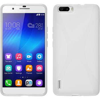 Silicone Case for Huawei Honor 6 Plus X-Style white