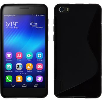 Silicone Case for Huawei Honor 6 S-Style black