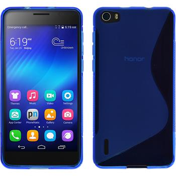 Silicone Case for Huawei Honor 6 S-Style blue