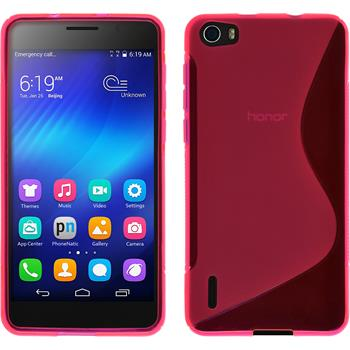 Silicone Case for Huawei Honor 6 S-Style hot pink