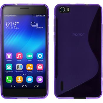 Silicone Case for Huawei Honor 6 S-Style purple
