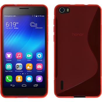 Silicone Case for Huawei Honor 6 S-Style red