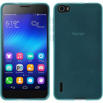 Silicone Case for Huawei Honor 6 transparent turquoise