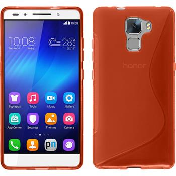 Silicone Case for Huawei Honor 7 S-Style red