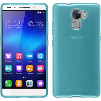 Silicone Case for Huawei Honor 7 transparent turquoise