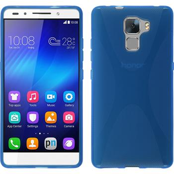 Silicone Case for Huawei Honor 7 X-Style blue