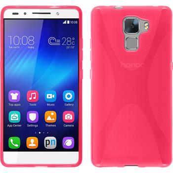 Silicone Case for Huawei Honor 7 X-Style hot pink