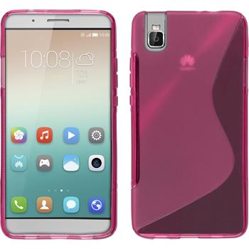 Silicone Case for Huawei Honor 7i S-Style hot pink