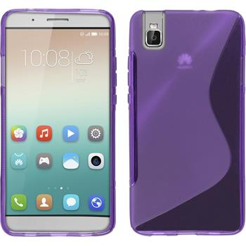 Silicone Case for Huawei Honor 7i S-Style purple
