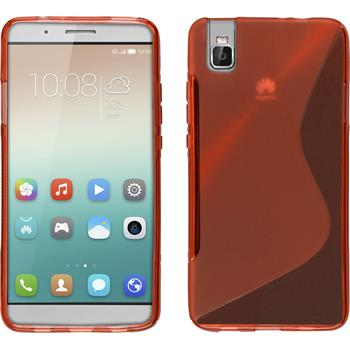 Silicone Case for Huawei Honor 7i S-Style red