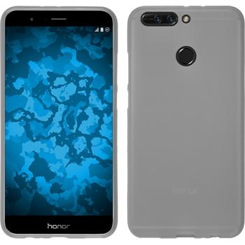 Silicone Case Honor 8 Pro matt white + protective foils
