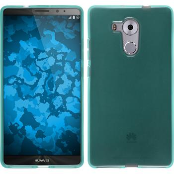 Silicone Case for Huawei Mate 8 transparent turquoise