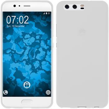Silicone Case P10 matt white + protective foils