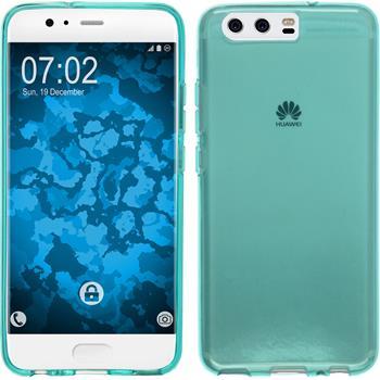 Silicone Case P10 Plus transparent turquoise Case